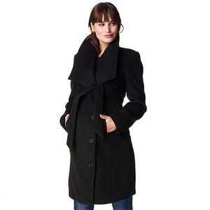 NEW Noppies maternity coat black Jacket Silje L